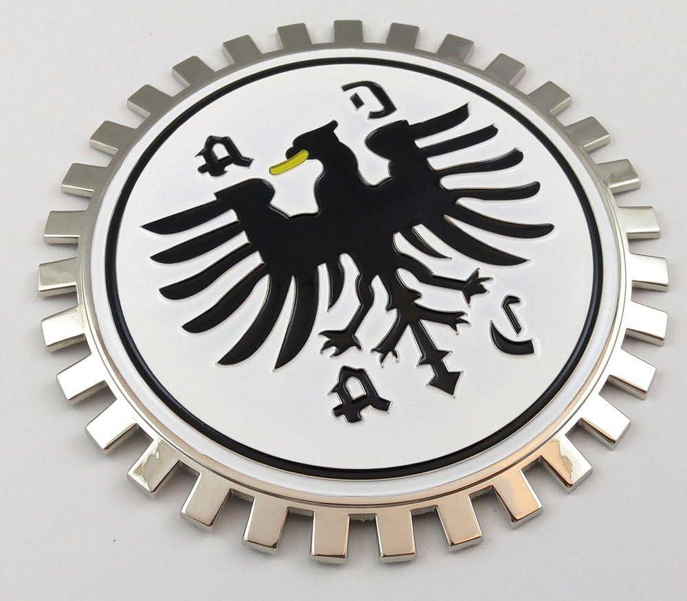 Grille Badge Stuttgart for car truck grill mount German flag Car Chrome Decals