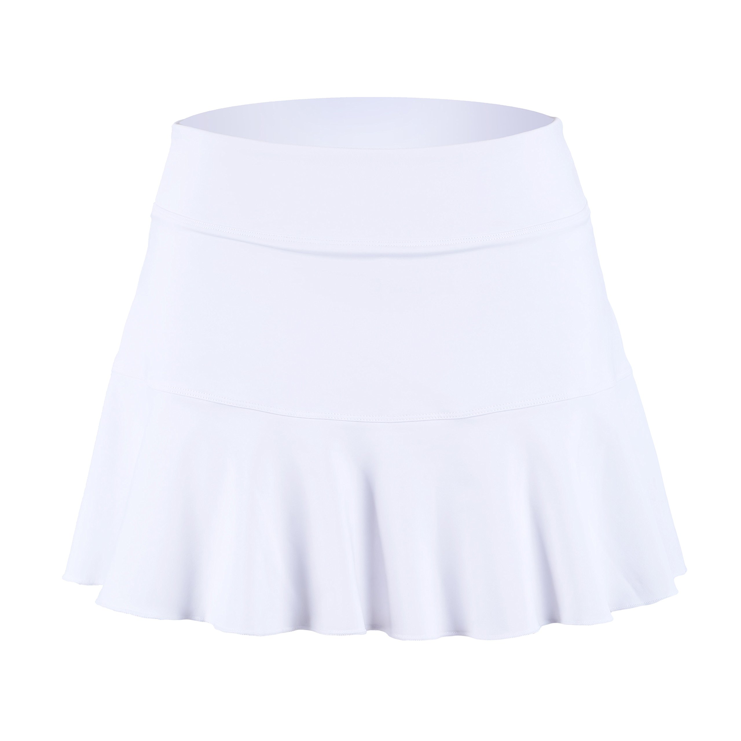 32e-SANERYI Women's Basic Elastic Tennis Skirt with Shorts Active Skort (sk25,S,White)