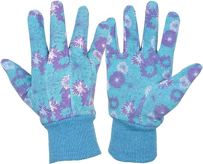 3 pares de guantes de trabajo para mujer, diseño floral, de algodón, para jardinería: Amazon.es: Ropa y accesorios
