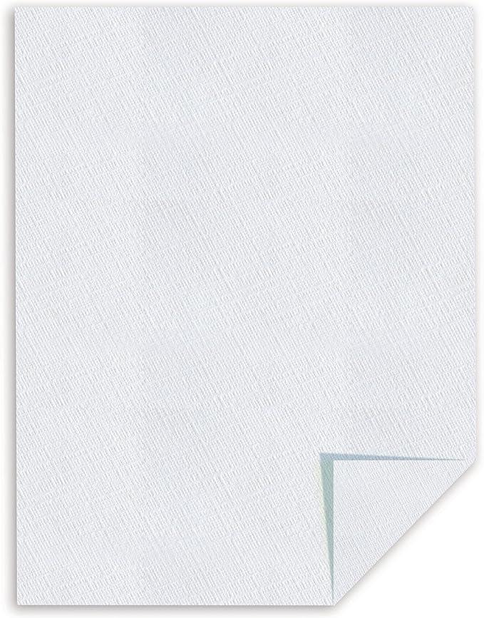 8-1//2 x 11 24 lbs. 25/% Cotton Linen Business Paper FSC White 500//Box