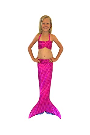e756a5a4cd5ae Amazon.com: Hand-made Mermaid Swim Tail for Swimming (Pink with a ...