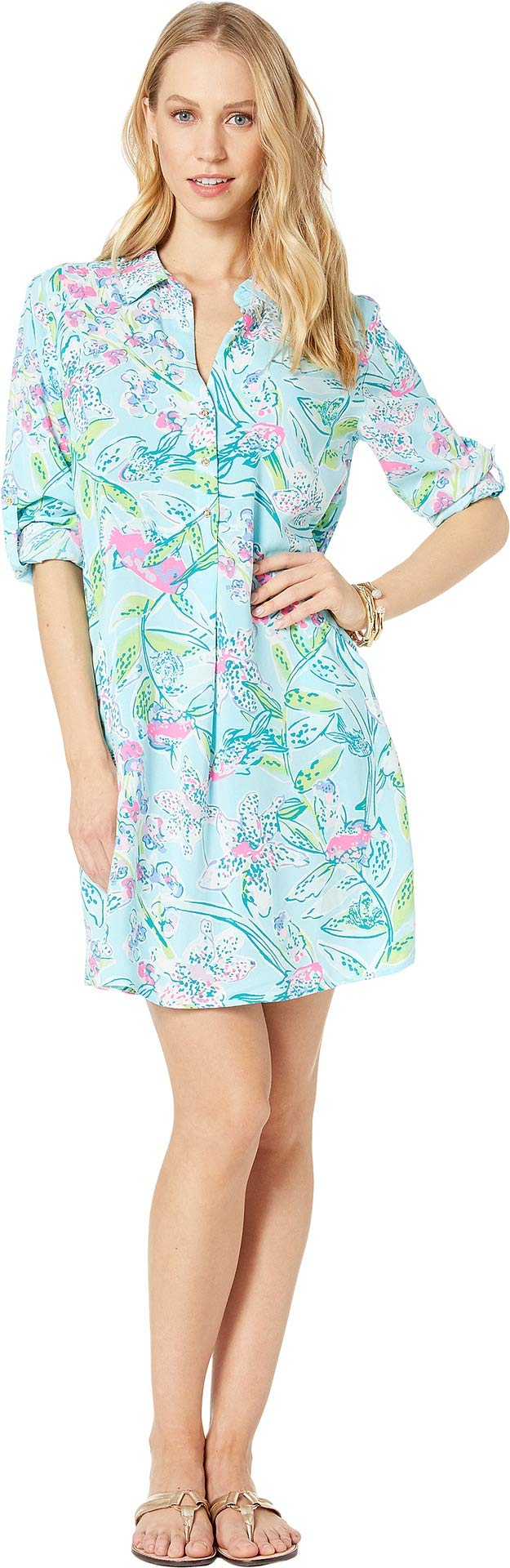 329131ca4bc Lilly Pulitzer Women's Lillith Tunic Dress Bali Blue Sway This Way Small