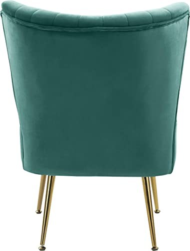 Meridian Furniture Tess Collection Modern | Contemporary Velvet Upholstered Accent Chair