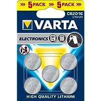 VARTA 5Stück Blisterpackung mit 1Knopfzelle Lithium Electronics 3Volt CR2016