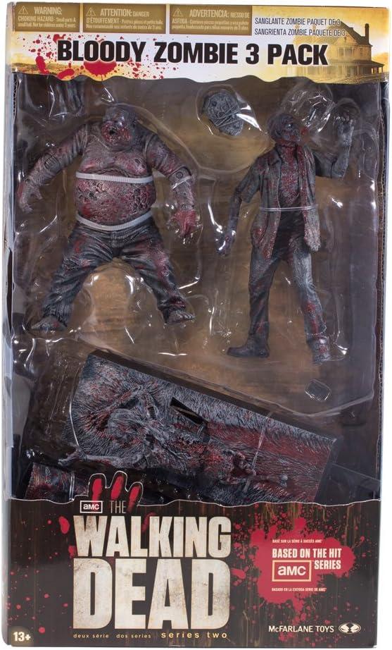 Walking Dead The TV Bloody Black & White Figure 3 Pack: Amazon.es ...