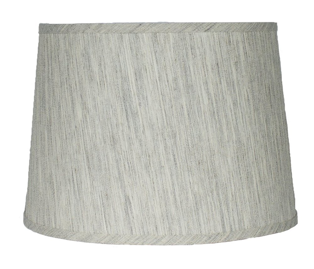 Urbanest French Drum Lampshade,Textured Flax Linen, 12-inch By 14-inch By 10-inch, Spider, Gray Tone