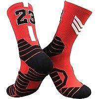 CNMD Calcetines de Media Pantorrilla Tejidos de Baloncesto de los Chicago Bulls nº 23 Michael Jordan | Baloncesto…