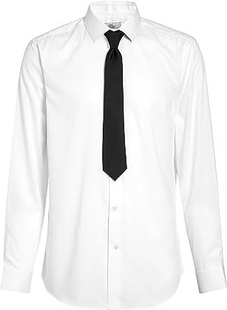 next Hombre Conjunto De Camisa Y Corbata Textura Blanco EU 50 ...
