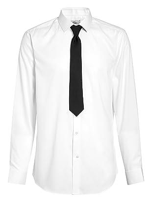 next Hombre Conjunto De Camisa Y Corbata Textura Blanco EU 50 Long ...