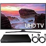 "Samsung UN55MU6300 55"" 4K Ultra HD Smart LED TV (2017 Model) + 4K Ultra-HD Blu-Ray Player w/ 3D Capability + 2x 6ft High Speed HDMI Cable"