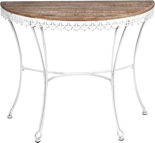 Vidal Regalos Mueble Entrada Casa Mesa Blanca Retro 100 cm: Amazon ...
