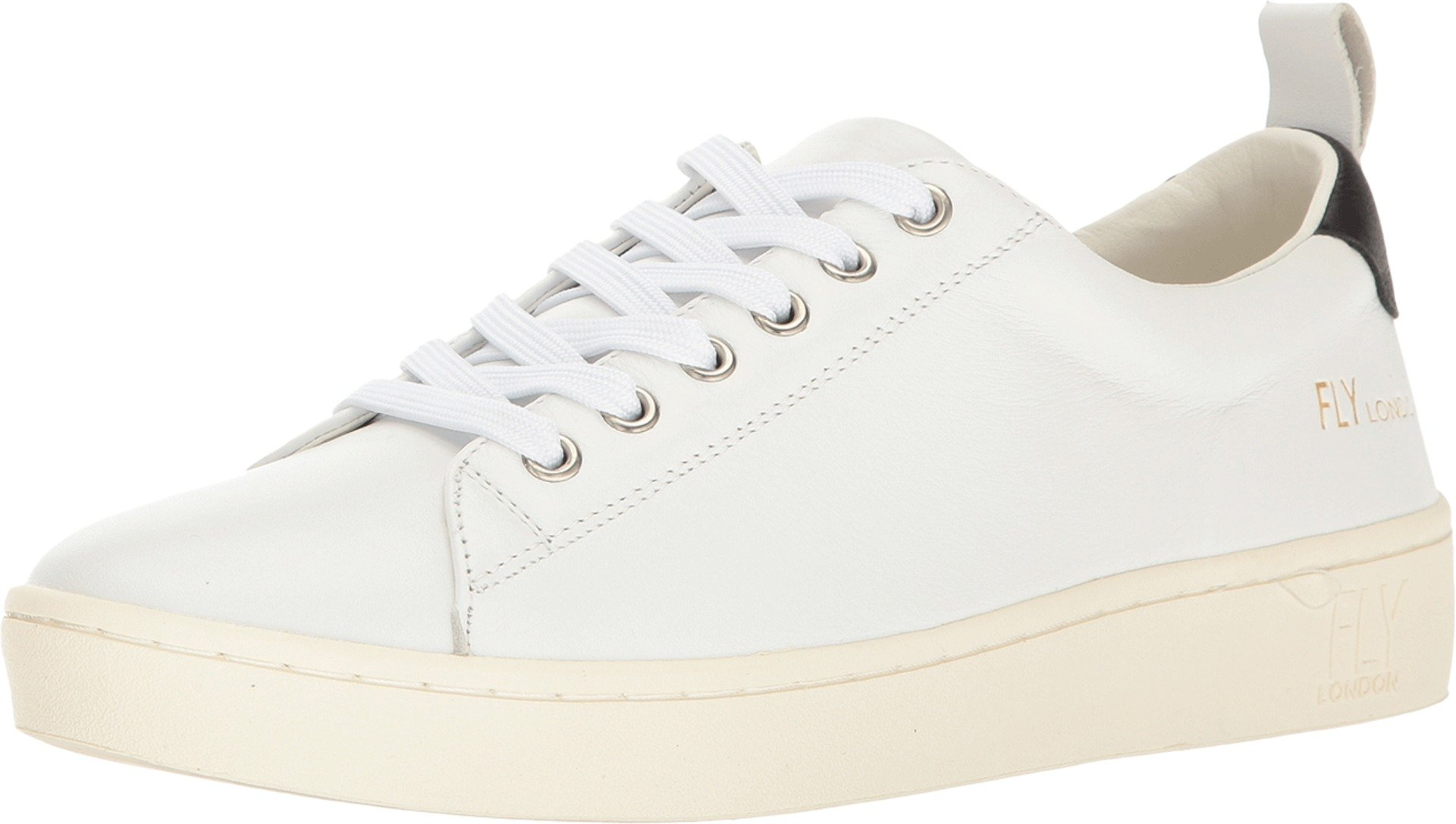 FLY LONDON Women's Maco833Fly Off-White Leather Oxford