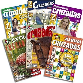 DataPrice Pack de 6 Libros de Pasatiempos Cruzadas. Cruzadas para ...