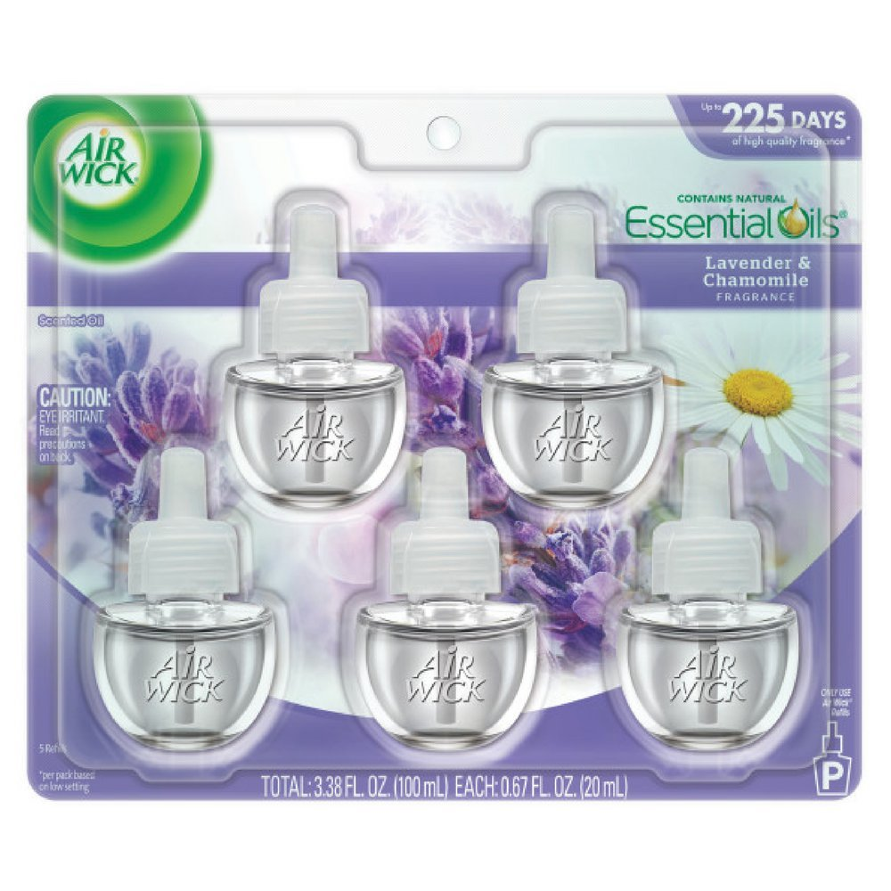 Air Wick Scented Oil Refill, Lavender and Chamomile, 5 refills (Pack of 12)