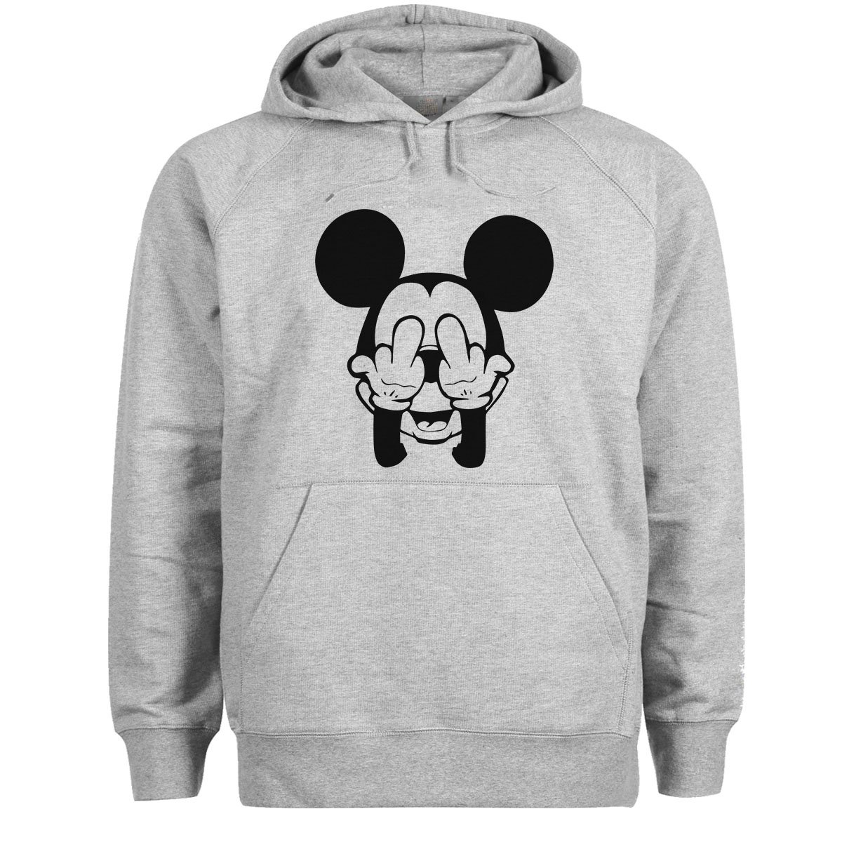 Swag Mickey Mouse Trippy Fuck Gris Con Capucha Disney Dope Sudadera OPXZkiu