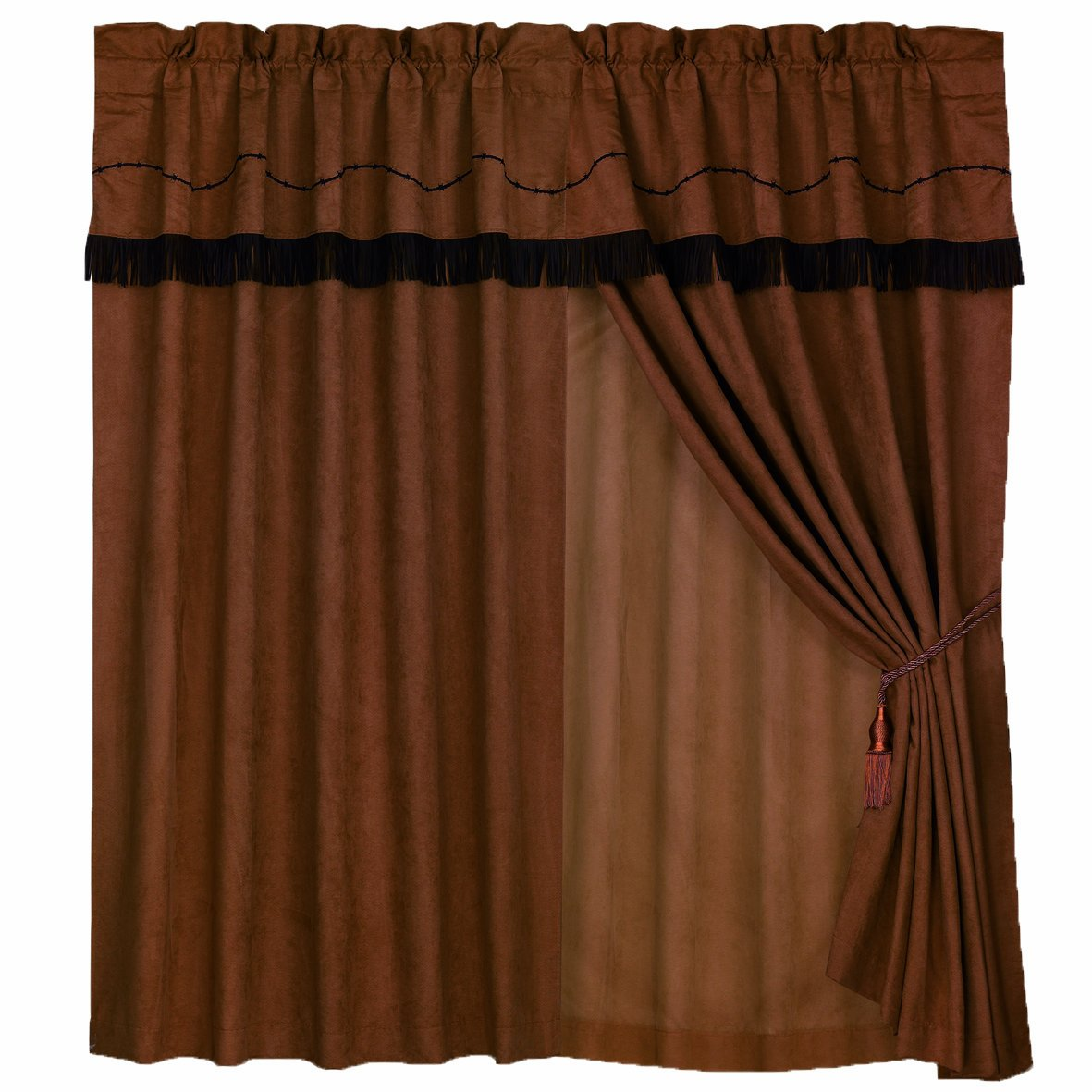 HiEnd Accents Barbwire Western Curtain by HiEnd Accents
