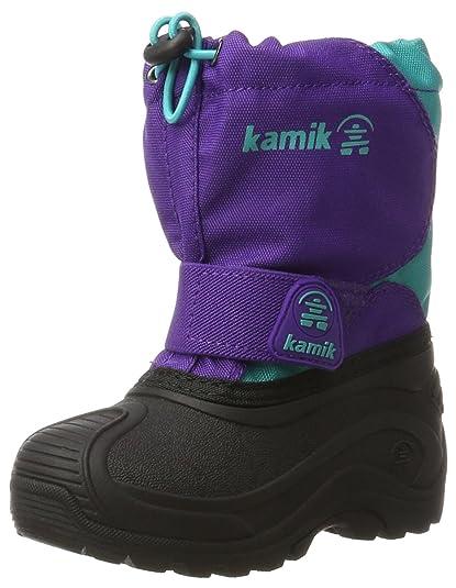 Kamik Snowfox, Bottes de Neige Fille - Violet - Violett (Purple/Teal-Violet/Sarcelle),