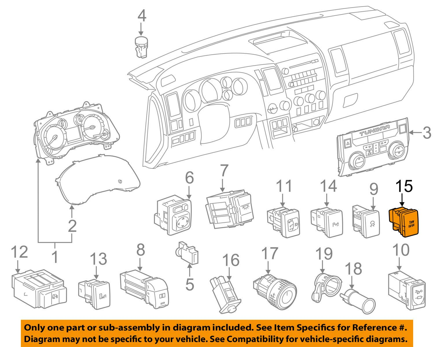 Toyota 84720-0C030 Pattern Select Switch Assembly