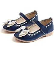 UBEY Girls PU Leather Mary Jane Flat Shoes Fashion Princess Shoes for Baby Girls