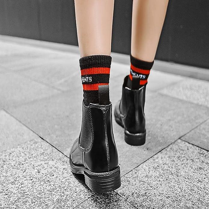 Martin Boots Botines Botas XYM908-1 Zapatos de Estudiante de Otoño e Invierno Moda Mujer,GJDE , black cashmere , 40: Amazon.es: Zapatos y complementos