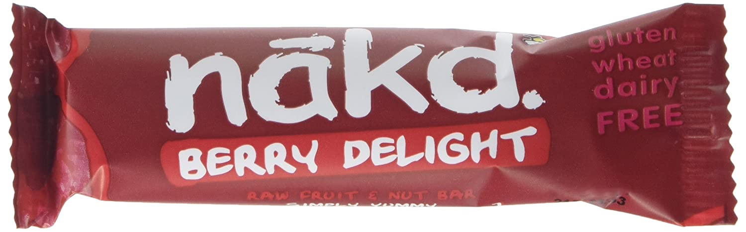 Nakd Berry Delight Gluten Free Bar 35 g (Pack of 18)