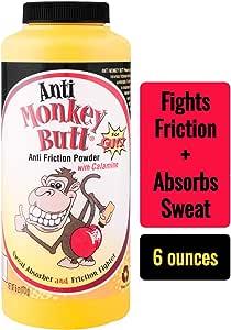Anti-Monkey Butt | Men's Anti Friction and Sweat Powder with Calamine | 6 oz.