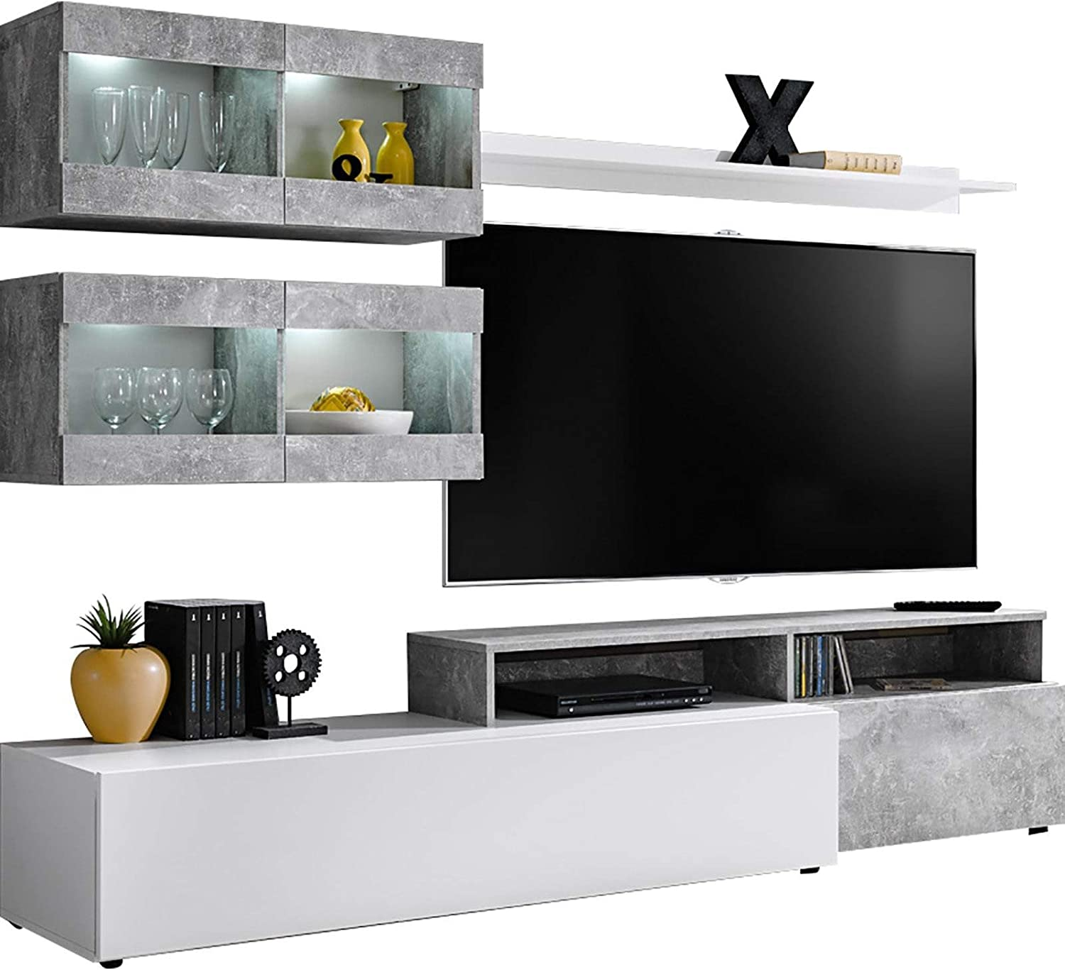 Domadeco Lowell - modern media wall unit with tv stand/TV media stand
