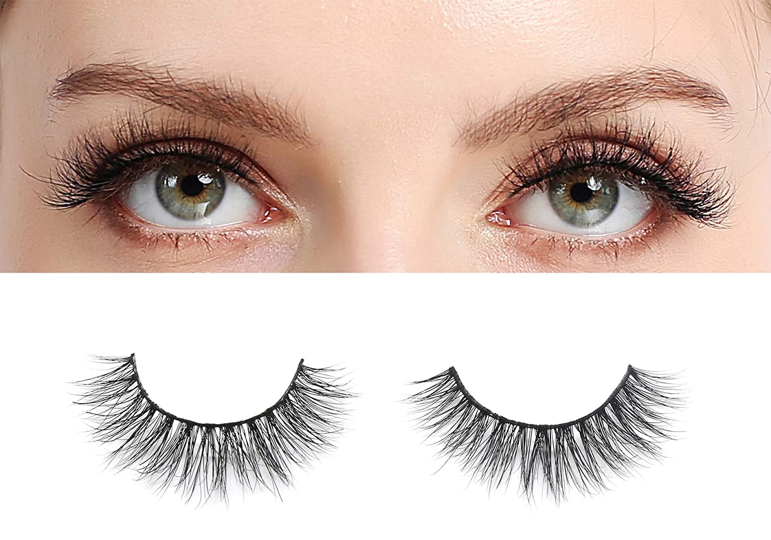 Amazon 3d Mink Fake Eyelashes Extension Lightweight And