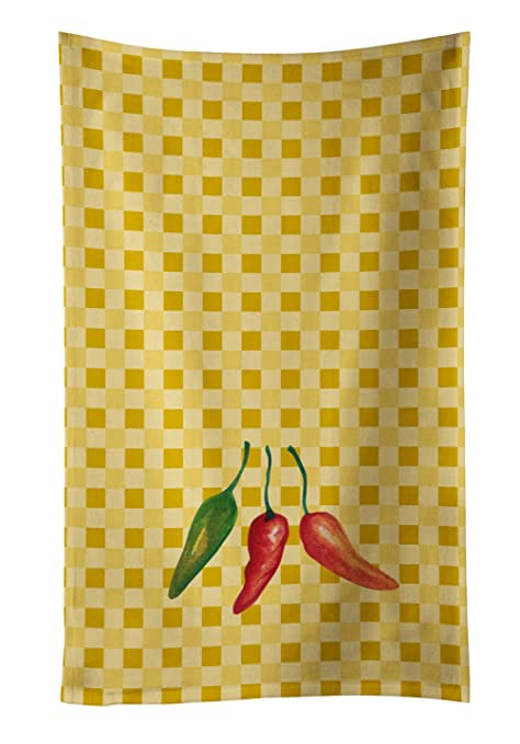 Caroline tesoros del bb7191ktwl Cayenne Pepper en Basketweave decorado plato toalla, 25hx15 W, multicolor