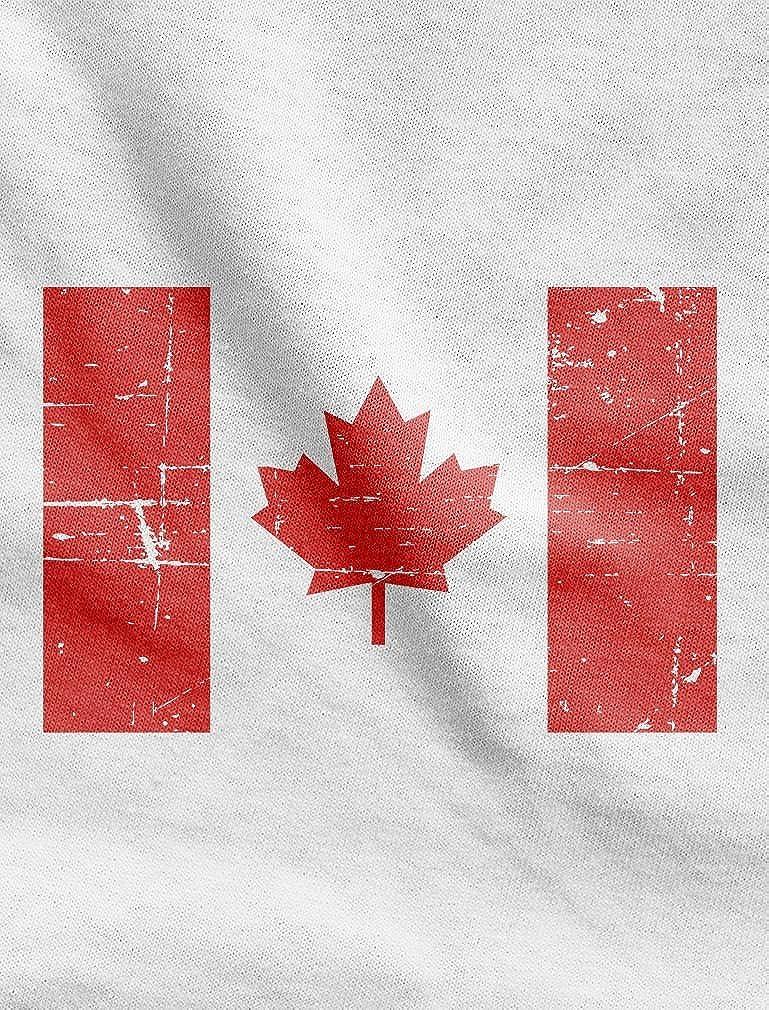 TeeStars Vintage Canadian Maple Leaf Canada Flag Retro Youth Kids T-Shirt