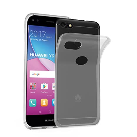 d330c4114a308 Cadorabo Funda para Huawei Y6 Pro 2017 en Transparente  Amazon.es   Electrónica