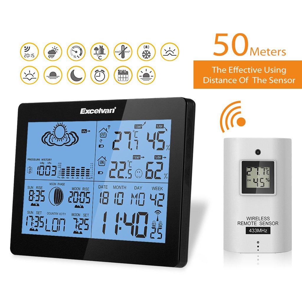excelvan station météo avec température hygrométrie intérieur