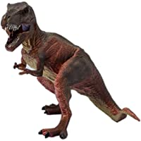 Tootpado Tyrannosaurus Rex T-Rex Action Figure Realistic Dinosaur Toys for Kids Big (9 Inch) - Brown (1TNG152)