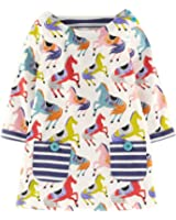 Girls Cotton Longsleeve Party Dresses Special Occasion Cartoon Print by Fiream