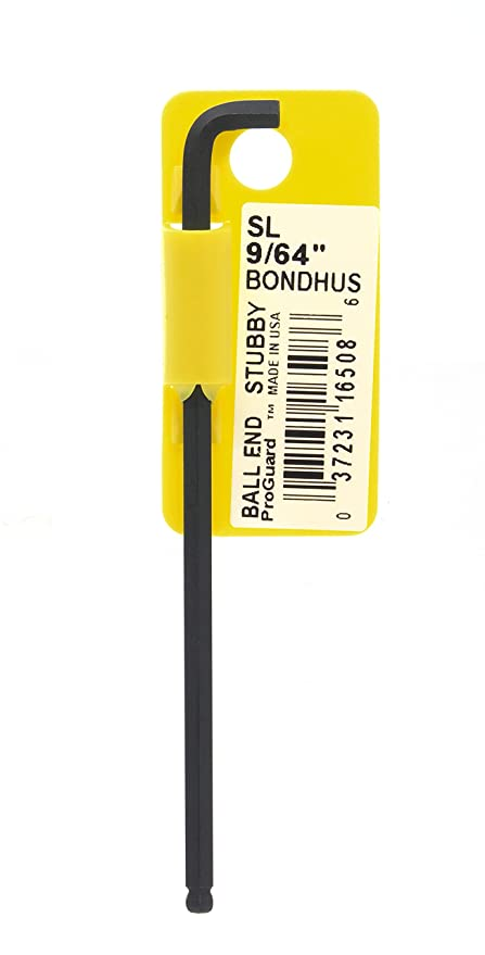 Bondhus 16508 9 64 Stubby Ball End Tip Hex Key L Wrench With