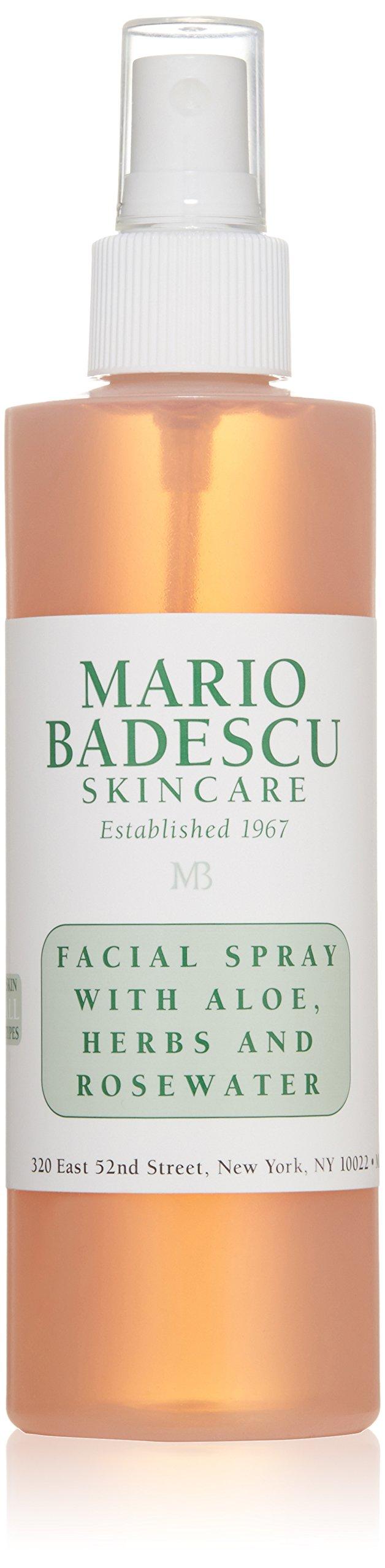 Mario Badescu Facial Spray with Aloe, Herbs and Rosewater, 8 Fl Oz by Mario Badescu