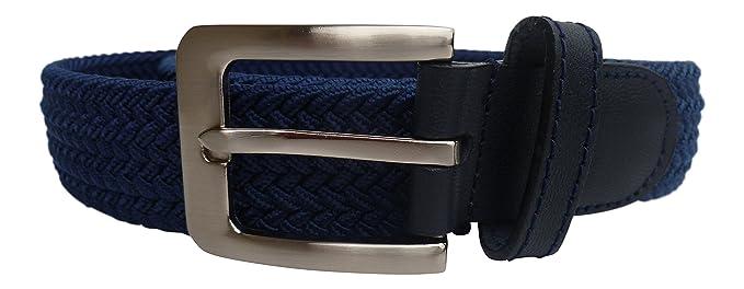 Streeze Cinturón 32mm Elásticoastizado y Trenzado. 6 Tamaños de Pequeño a 3XL. Hebilla Plateada. Ideal para Jeans xvz31uh