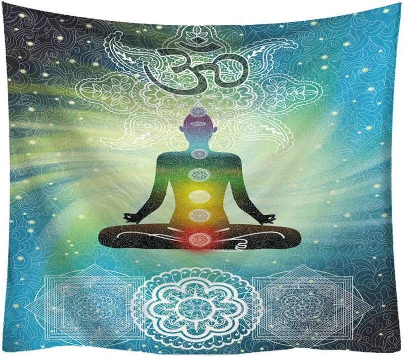 Qmber 2019 Psychedelic Twin Cotton Bohemian Printed Mandala Hanging Wall Tapisry Hippie Room White Gold Throw Comforter Mode Muster Frische Buddha Art Dekorativ//A