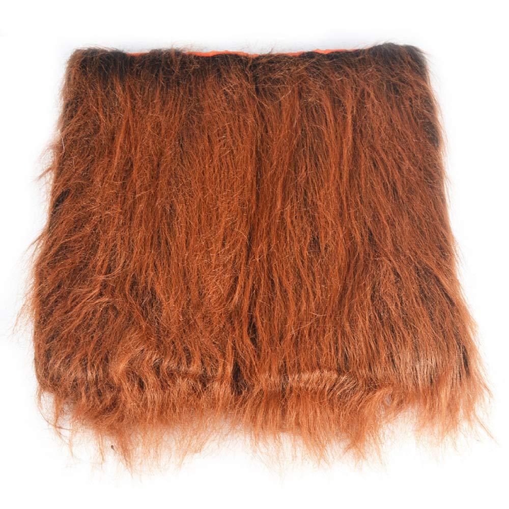 Brown Large Lion Mane Costume Cat Dog Ear hat Pet Wig Clothes Halloween Christmas Easter Festival Party golden Retriever
