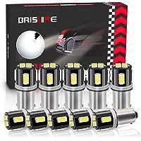 BRISHINE BA9S LED Bulbs 6000K Xenon White Extremely Bright 5630 Chipsets 53 57 293 BA9 64111 1891 1895 T4W LED Bulbs for…