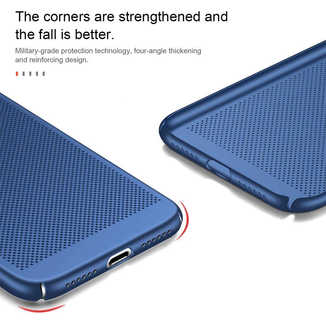Ultra PC de disipaci/ón de Calor Caso Duro Antideslizantes de contraportada Completo Proteger c/áscara del tel/éfono m/óvil,Rojo CTGVH iPhone 8 Funda