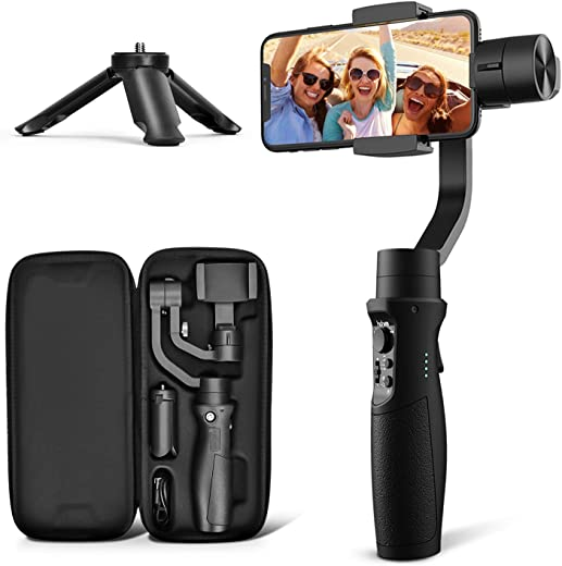 3-Axis Gimbal Stabilizer for iPhone 11 PRO MAX X XR XS Smartphone Vlog Youtuber Live Video Record with Sport Inception Mode Face Object Tracking Motion Time-Lapse - Hohem iSteady Mobile Plus
