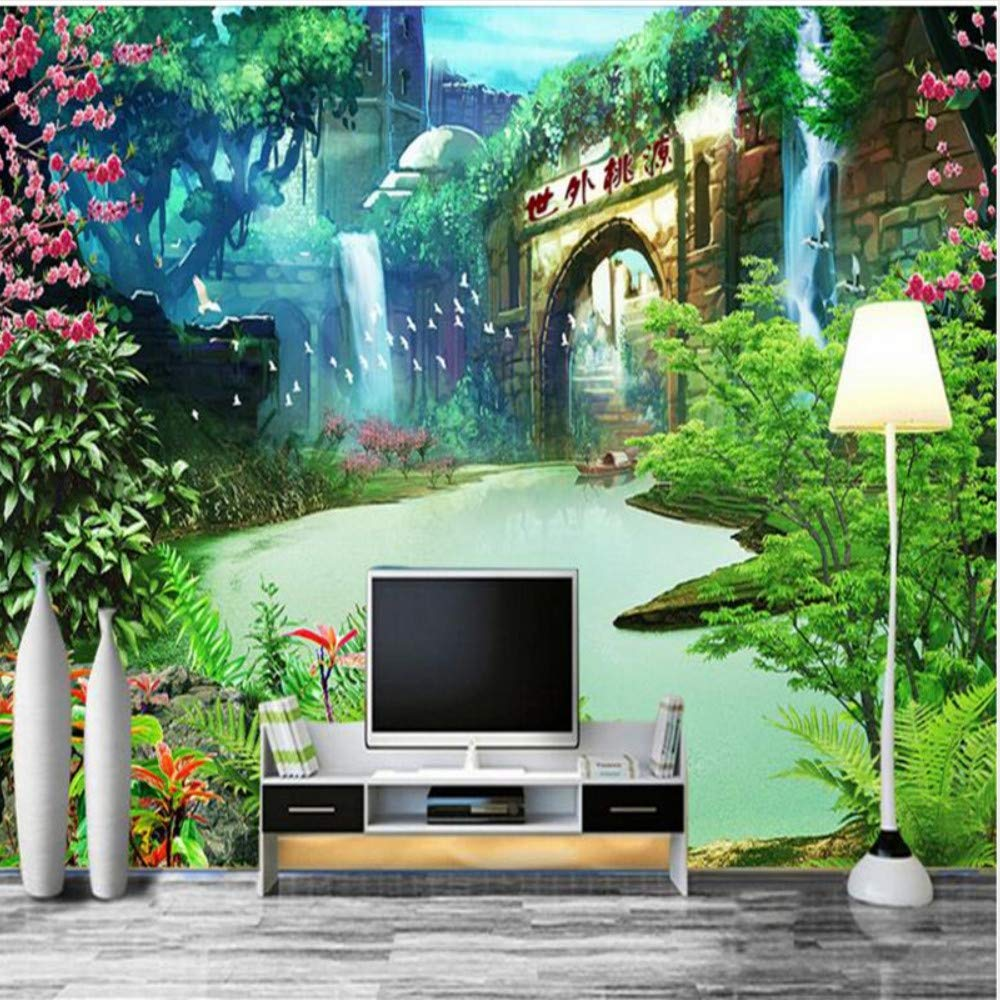 Shuangklei Large Custom Wallpaper Xanadu Landscape Painting Bedroom