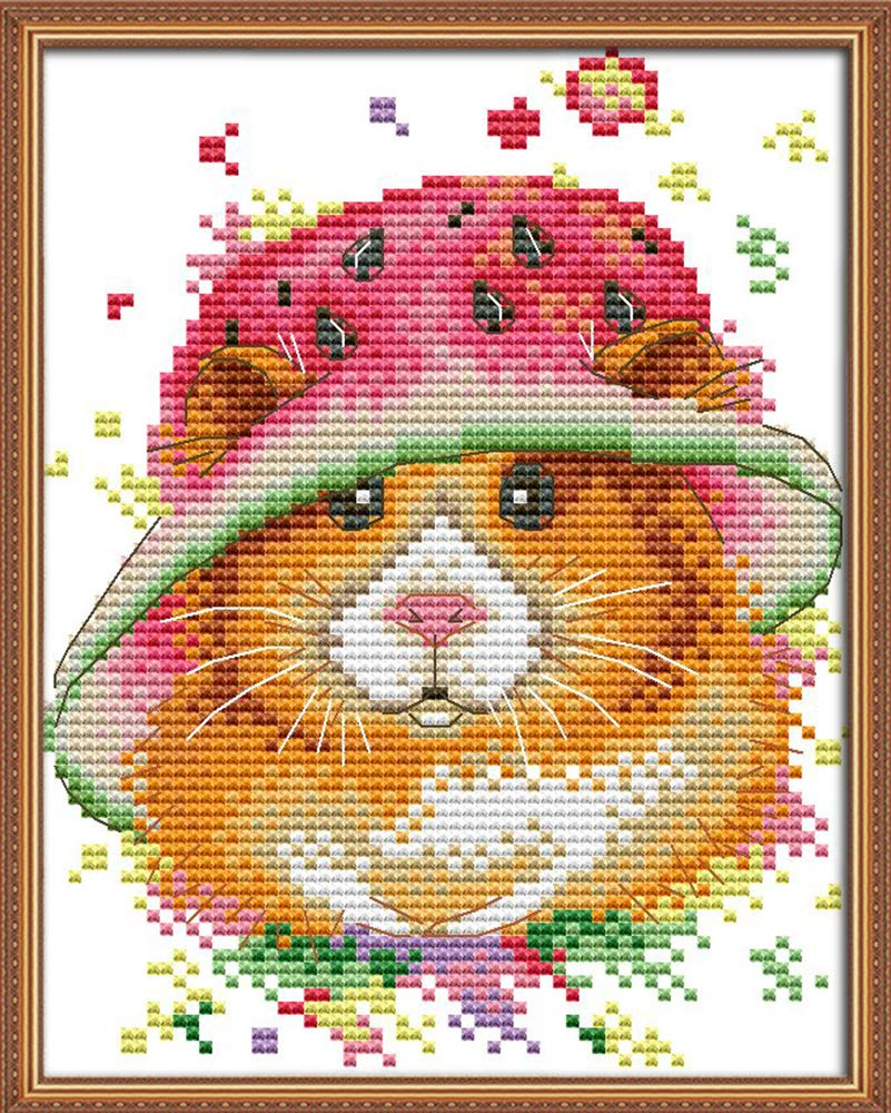 Full Range of Embroidery Starter Kits Stamped Cross Stitch Kits Beginners for DIY Embroidery Comb Braids -Fathers Love Multiple Pattern Designs