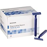 McKesson Razor Single Edge Twin Blade Blue 50 per Box 16-RZ50