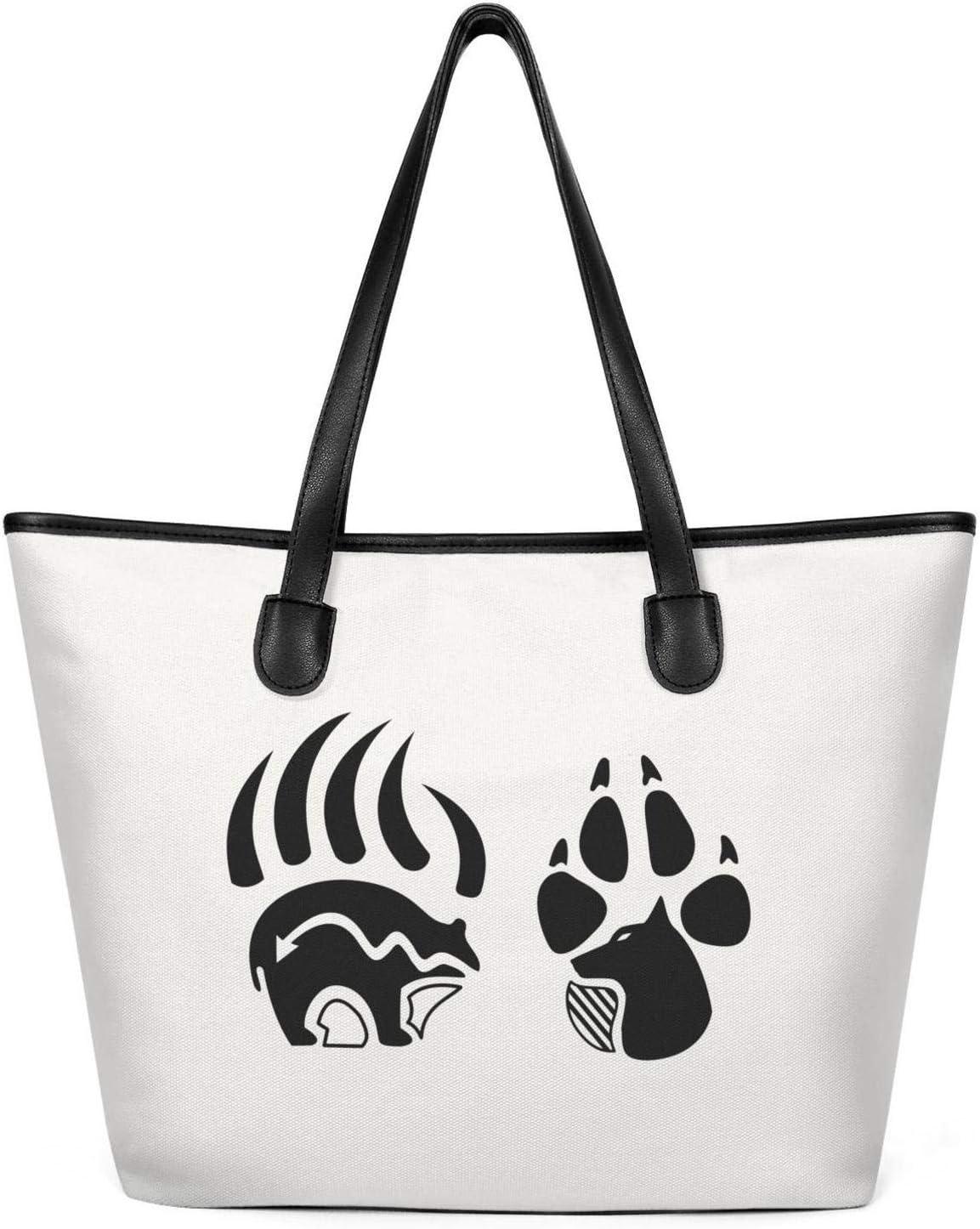 Flamingo and Pineapple Fashion Womens Multi-Pocket Vintage Canvas Handbags Miniature Shoulder Bags Totes Purses Shopping Bags