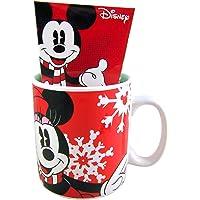 Disney Christmas Minnie Mouse Giant Mug and Hot Chocolate Gift Set, 28 oz