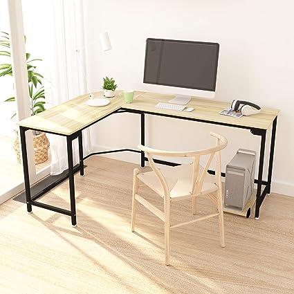Wooden corner computer desks for home