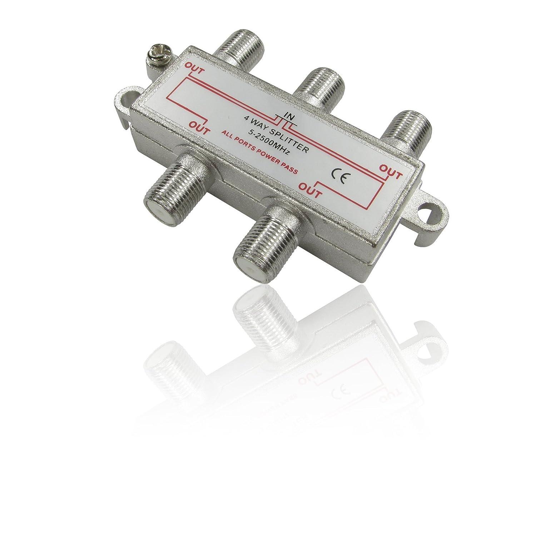 1 Entradas, 4 Salidas, 5-2500 MHz, 5-2500 MHz CDL Micro SAT-4WAY conmutador m/últiple para sat/élite 1 Entradas 4 Salidas Conmutadores m/últiples para sat/élite