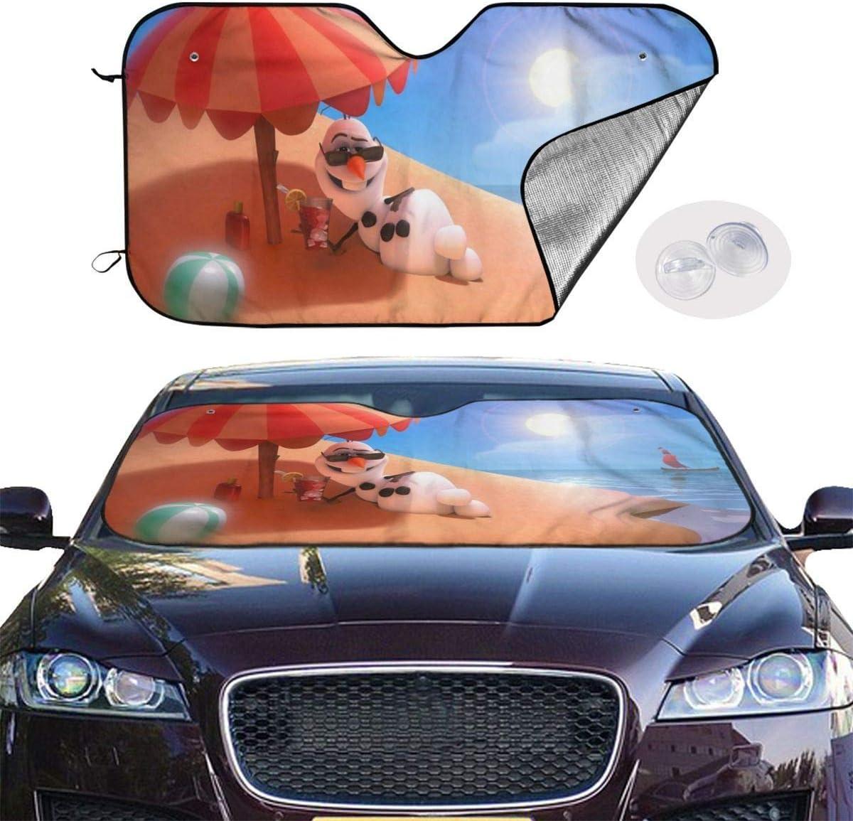 GFHTH Parasole Parasole per Auto Olaf congelato Blocca i Raggi UV Visiera Parasole per Mantenere Fresco Il Veicolo e Evitare Danni 51 X 27,5 Pollici